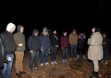 Sociedad paranormal de Brooklyn durante la investigación Foto de archivo