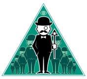 Sociedad secreta del inconformista ilustración del vector
