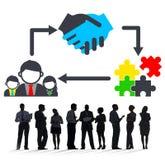 Sociedad Team Corporate Collaboration Connection Concept Fotografía de archivo libre de regalías
