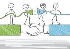 Sociedad y cooperación stock de ilustración