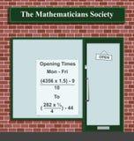 Sociedade dos matemáticos Fotografia de Stock