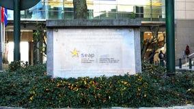 Sociedade dos profissionais europeus SEAP dos casos vídeos de arquivo