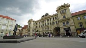 Sociedade filarmônica nacional lituana em Vilnius video estoque