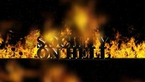 Sociedade no fogo que queima a palavra quente no fogo ilustração stock