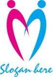 Società astratta semplice di logo Fotografie Stock