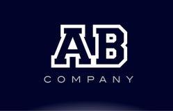 Società dell'icona di logo della lettera di alfabeto di ab A B illustrazione vettoriale