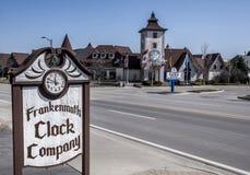 Società dell'orologio di Frankenmuth Immagini Stock