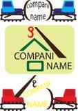 Società di costruzioni di logo Fotografie Stock