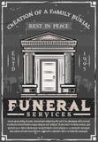 Società di funerale, tomba della cripta di sepoltura della famiglia royalty illustrazione gratis