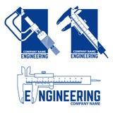 Società di ingegneria Logo Templates illustrazione di stock