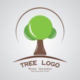 Società di legno marcante a caldo del cerchio del logotype verde dell'albero Fotografia Stock Libera da Diritti