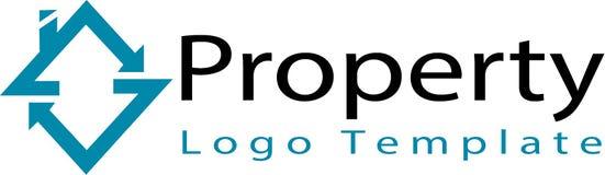 Società immobiliare e modello di logo Immagini Stock Libere da Diritti