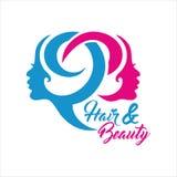 Società Logo Vector del salone di bellezza Immagini Stock