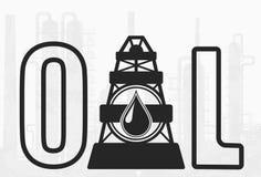 Società Simbol della trivellazione petrolifera Fotografie Stock