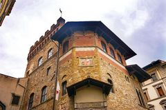 Societa Dante Alighieri Cultural Society Building Florence Italy fotos de stock royalty free