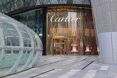 Societe Cartier designs, manufactures, distributes and sells jewelry and watches since 1847 Stock Images