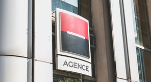 Societe Generale agency in La Defense, Paris Royalty Free Stock Images