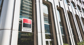 Societe Generale agency in La Defense, Paris Stock Photo