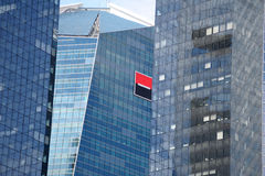 Societe Generale logo on headquarters building stock photo