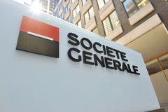 Societe Generale sign at NY Headquarters Royalty Free Stock Images
