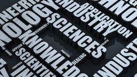 Societies Metal Word Cloud Concept 3D Render Royalty Free Stock Images