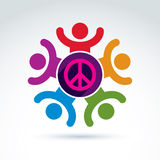 Society business and organization taking care about the peace, v Stock Image
