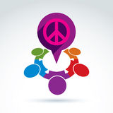 Society business and organization taking care about the peace, v Royalty Free Stock Images