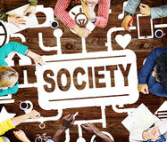 Society Community Global Togetherness Connecting Internet Concep Royalty Free Stock Images