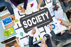Society Community Global Togetherness Connecting Internet Concep Stock Photo