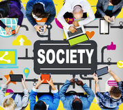 Society Community Global Togetherness Connecting Internet Concep Royalty Free Stock Photo