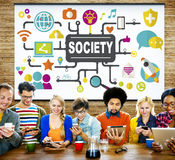 Society Community Global Togetherness Connecting Internet Concep Royalty Free Stock Photography
