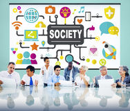 Society Community Global Togetherness Connecting Internet Concep. T Stock Images