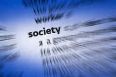 Society. The community of people living in a particular country or region and having shared customs, laws, and organizations royalty free stock image