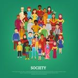 Society Concept Illustration Stock Image