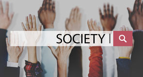 Society Connection Diversity Community Human Hand Concept Royalty Free Stock Photo