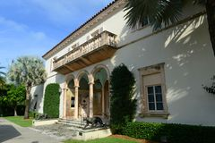 Society of the Four Arts, Palm Beach, Florida. USA. Society of the Four Arts was founded in 1936 with two libraries, exhibition space and an auditorium for Stock Image