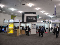 The Society of Information Display Show 2015 San Jose. The Gunze and BOE booths at SID 2015 Society of Information Display show at San Jose California Stock Photos