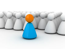 Society and the leader. Image expressing leadership (society for leader, 3D for printing or WEB Royalty Free Stock Photo