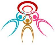 Society logo. Isolated line art society logo design Royalty Free Stock Images