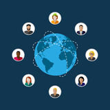 Society members. population. modern society or global network co Royalty Free Stock Photo