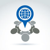Society and organizations taking care about the world, global pe Royalty Free Stock Image