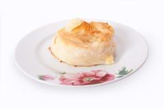 Society pastry borek manti fork knife service Royalty Free Stock Photography