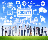 Society Social Media Social Networking Connection Concept Royalty Free Stock Photo