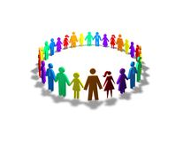 Society, togetherness and diversity concept Royalty Free Stock Photos