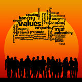 Society values. Overview of values in society Royalty Free Stock Photo