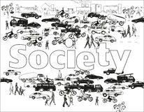 SocietyBackground Foto de archivo