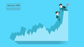 Socio financiero del equipo de la ayuda del consejero o del mentor de negocio hasta aumento de beneficios Fotos de archivo