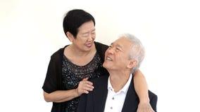 Socio mayor asiático en traje formal Negocio familiar de la vida del amor Foto de archivo libre de regalías