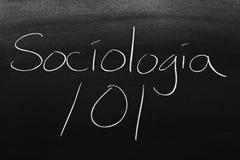 Sociología 101 On A Blackboard Royalty Free Stock Image