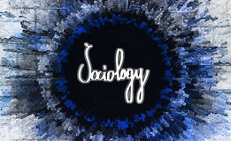Sociology. Abstract Illustration with Text and Zoom Effect Stock Photography